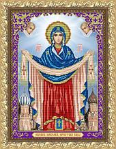 """Рисунок на ткани для вышивания бисером """"Образ Пресвятой Богородицы Покрова"""""""