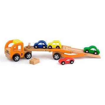 Дерев'яна машинка Viga Toys Автотрейлер (50825) (SV)