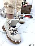 Ботинки с вязаной вставкой 28518, фото 2