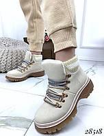 Ботинки с вязаной вставкой 28518, фото 1