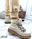 Ботинки с вязаной вставкой 28518, фото 5