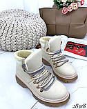 Ботинки с вязаной вставкой 28518, фото 4
