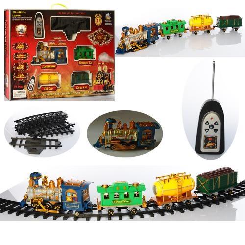 ЖД   р/у, локомотив, 27см,  вагон 3шт, звук,дым, едет, 21дет,на бат-ке,в кор-ке, 70-43-10с