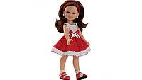 Куколка Клео в красно белом платье подружки модницы 32 см Paola Reina 04640U