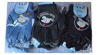"""Перчатки YO """"Игрушка"""" , вязанные , однотонные , для малышей от 7-9 лет ."""
