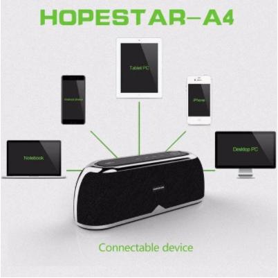 Мощная портативная bluetooth колонка Hopestar A4 BLACK