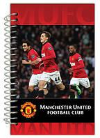 Блокнот с картонной обложкой на спирали Manchester Utd Kite, 80 листов, А5