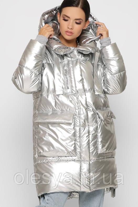 Женская модная Зимняя куртка X-Woyz 8882 размеры 46 48