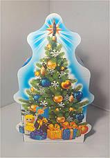 Картонная упаковка новогодняя Ялинка з цукерками на вес до 600г от 1 ящика, фото 2