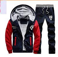 Мужской спортивный костюм на меху Lamborghini, МД-0131-И