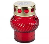 Лампадка стеклянная красная 45 - 0 22 h, 1 шт
