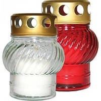 Лампадка стеклянная белая и красная 50 - 1 22 h, 1 шт