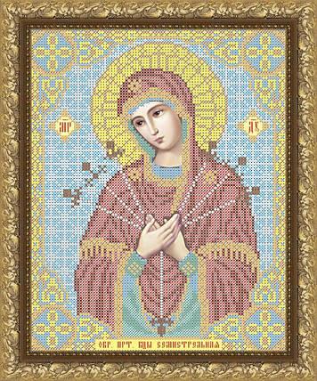 """Рисунок на ткани для вышивания бисером """"Пресвятая Богородица Семистрельная"""", фото 2"""