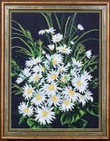 Набор для вышивания бисером цветы. Скромные ромашки МК Б-257