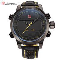 Мужские часы SHARK LED Digital Yellow Quartz Men