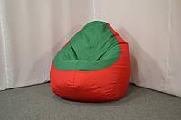 Кресло груша Оксфорд L, Красный, Зеленый