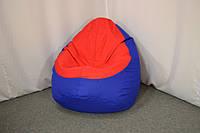 Кресло груша Оксфорд L, Синий, Красный