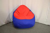 Кресло мешок груша Оксфорд XL, Синий, Красный