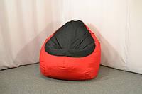 Кресло мешок груша Оксфорд XL, Красный, Черный