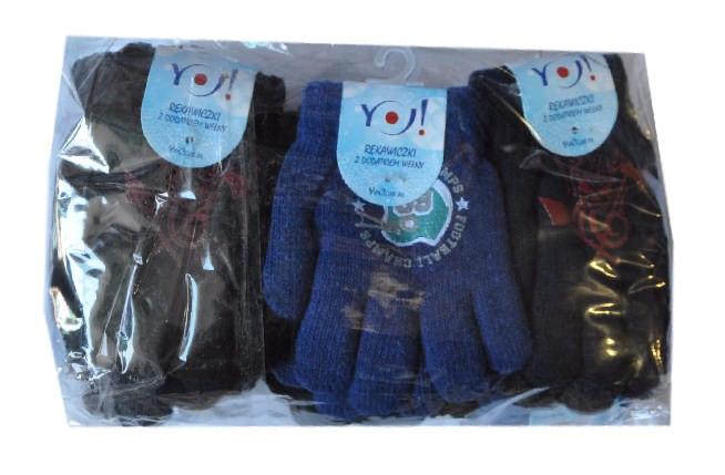 """Перчатки YO """"Football"""" , вязанные , на флисе , однотонные , для мальчиков от 9-12 лет ."""