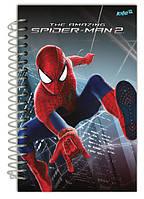 Блокнот с картонной обложкой на спирали Spider‑Man Kite, 80 листов, А5