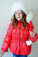 """Детская куртка-пуховик для девочки """"Буратинка"""" на рост 86-116 см"""