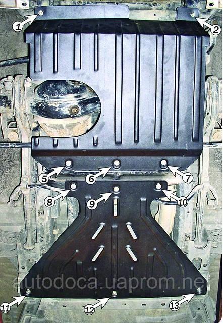 Защита картера двигателя Nissan Patrol GR  Y61 2003-