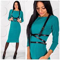 Женское платье теплое шерстяное ОS-42