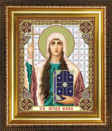 """Рисунок на ткани для вышивания бисером """"Св.Мученица Нина"""", фото 2"""