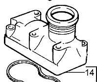 Крышка термостата 4133L011 Perkins, Перкинс, Перкінс, Запчасти Перкинс, Запчасти Perkins, ремонт Перкинс, двигатели Perkins