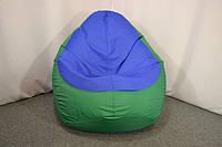 Кресло мешок груша Оксфорд XL, Зеленый, Синий