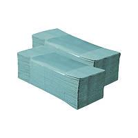 Полотенце бумажное в пачке ZZ-складка зеленое/серое, 160 листов, Киев