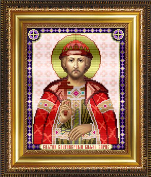 """Рисунок на ткани для вышивания бисером """"Св. Благоверный Князь Борис"""""""