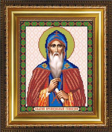 """Рисунок на ткани для вышивания бисером """"Св.Преподобный Геннадий"""", фото 2"""