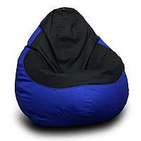 Кресло мешок груша Оксфорд XXL, Синий, Черный