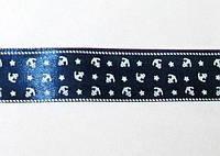 Лента атлас Якоря 2,5см, синяя