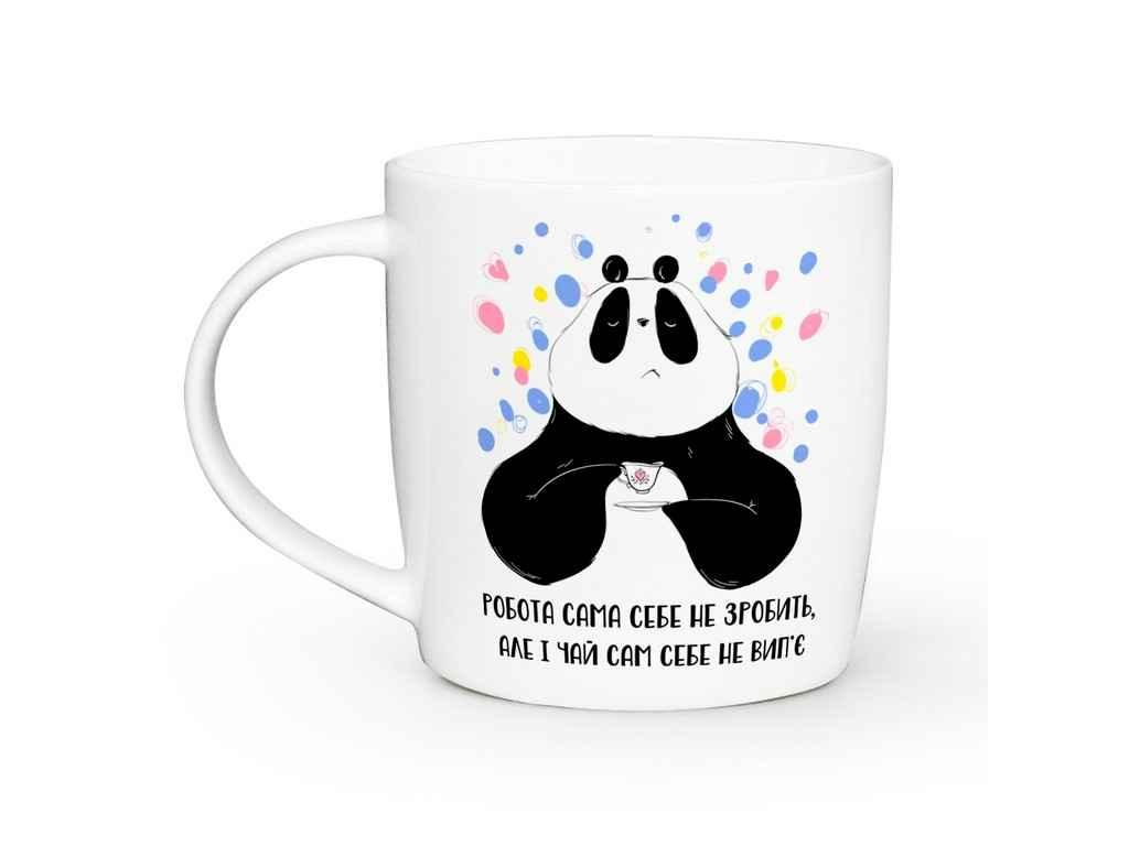 Чашка 360мл Бочка Панда відпочиває ТМKVARTA