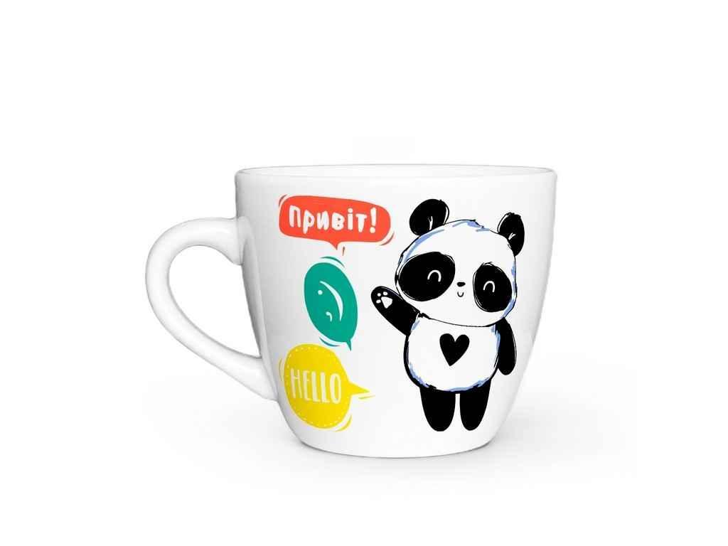 Чашка 220мл дитяча Привіт панда ТМKVARTA