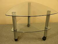 Журнальный стеклянный столик  Дэльта-мини прозрачный