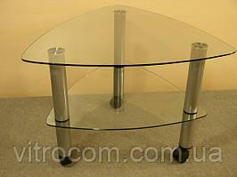 Журнальний скляний столик Дэльта-міні прозорий