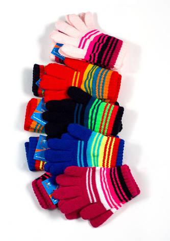 Детские теплые красивые вязанные перчатки рукавички., фото 2