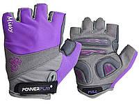 Велорукавички PowerPlay 5277 А Фіолетові XS, фото 1