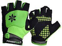 Велорукавички PowerPlay 5284 B Зелені M, фото 1