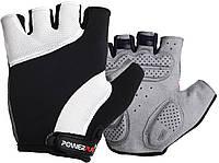 Велорукавички PowerPlay 5041 Чорно-білі M, фото 1