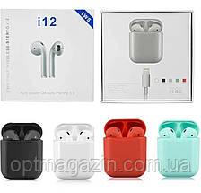 Бездротові сенсорні Bluetooth навушники i12-TWS, фото 2