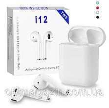 Бездротові сенсорні Bluetooth навушники i12-TWS