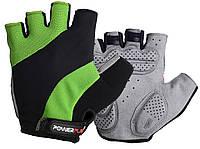Велорукавички PowerPlay 5041 A Чорно-зелені M, фото 1