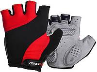 Велорукавички PowerPlay 5041 D Чорно-червоні L, фото 1