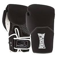 Боксерські рукавиці PowerPlay 3011 Чорно-Білі карбон 12 унцій, фото 1