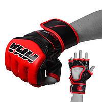 Рукавички для MMA PowerPlay 3055 Червоно-Чорні L, фото 1